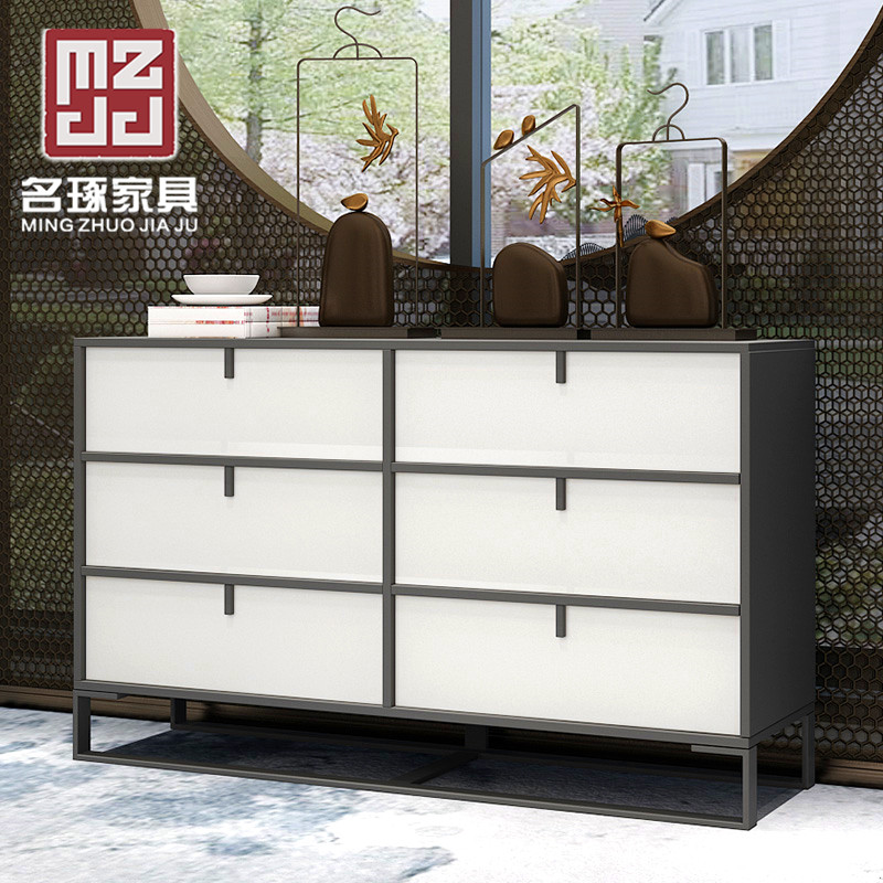 名琢 现代简约新中式厨房储物置物边柜 客厅茶水餐厅收纳备餐碗柜
