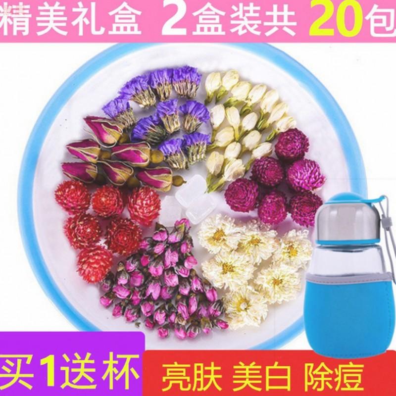 推荐玫瑰花茶组合菊花茶茉莉花美白美容女性养生花茶调理内分泌除