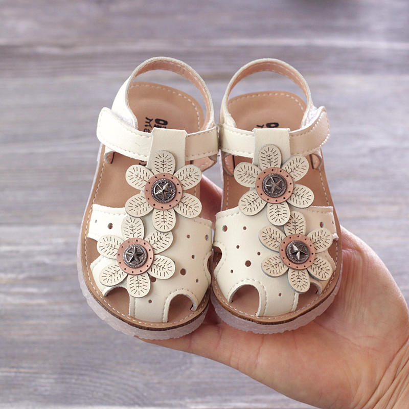 新款 宝宝 鞋子 夏季 女童 公主 防滑 两岁 幼儿 包头 凉鞋
