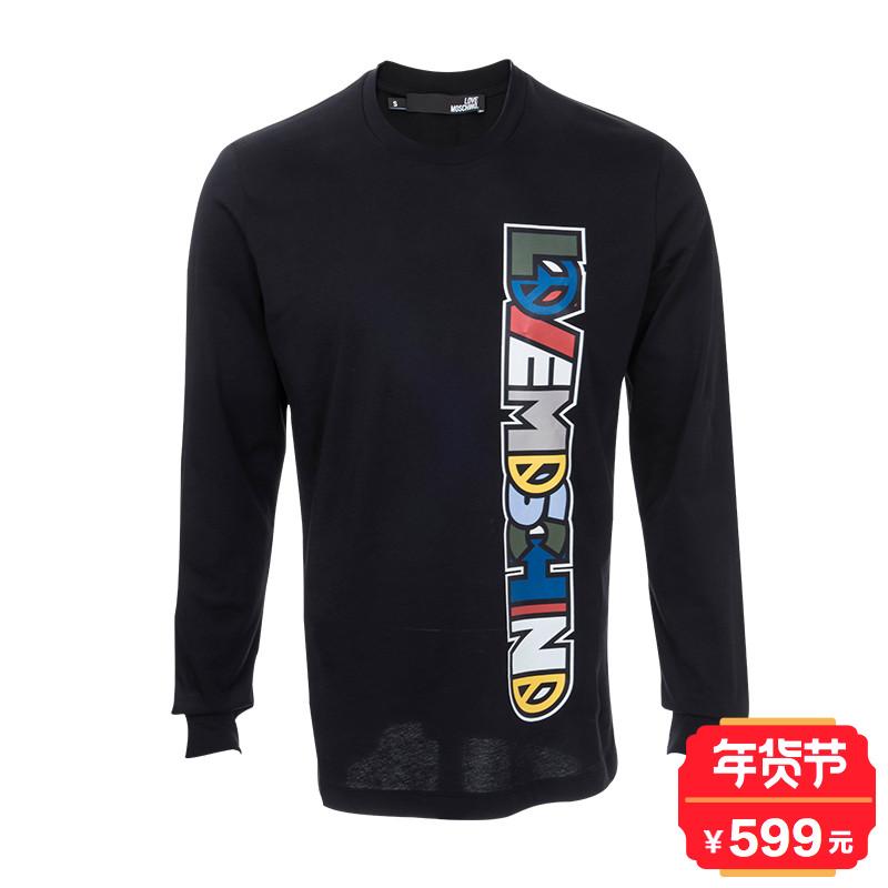 Moschino/莫斯奇诺LM4734036M3517奢品男士时尚全棉长袖T恤(斑)