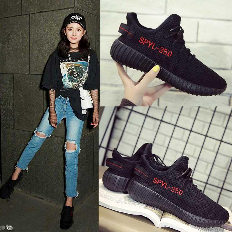 椰子鞋女新款韩版黑运动鞋女夏季跑步鞋平底百搭学生鞋潮透气网鞋