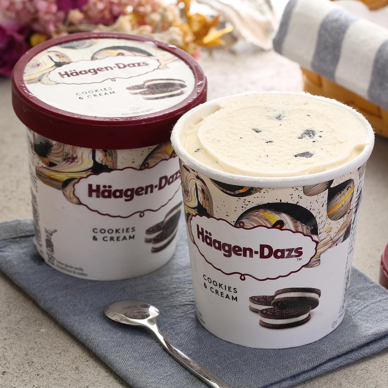 【买1桶送1桶 口味自选】哈根达斯冰淇淋460ml大桶装网红冰激凌