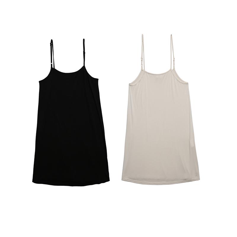 莫代尔多用途吊带打底连衣裙 肉色黑色  基础款日常配备