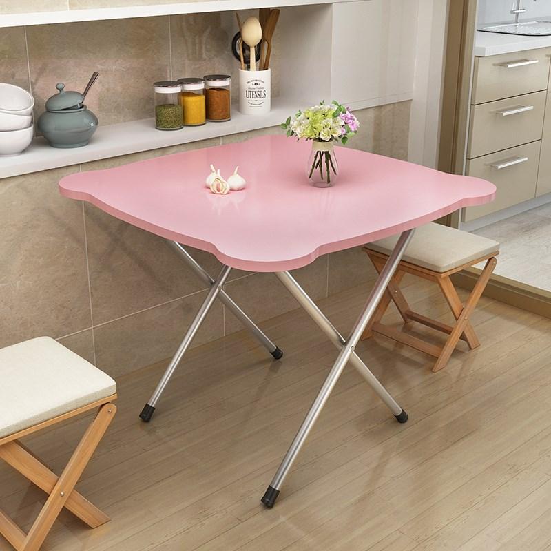 折叠桌靠边站餐桌简易家用小户型2人4人摆摊便携正方形吃饭小桌子