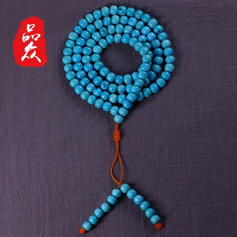 纯天然 原矿 绿松石 手串 男女 手链 项链 佛珠 小米 正品