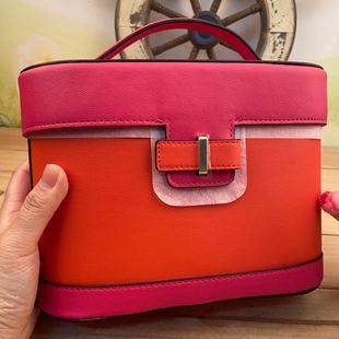 包邮 雅诗兰黛2020春季橙色化妆箱 旅行洗漱包 拼接复古 多种收纳图片