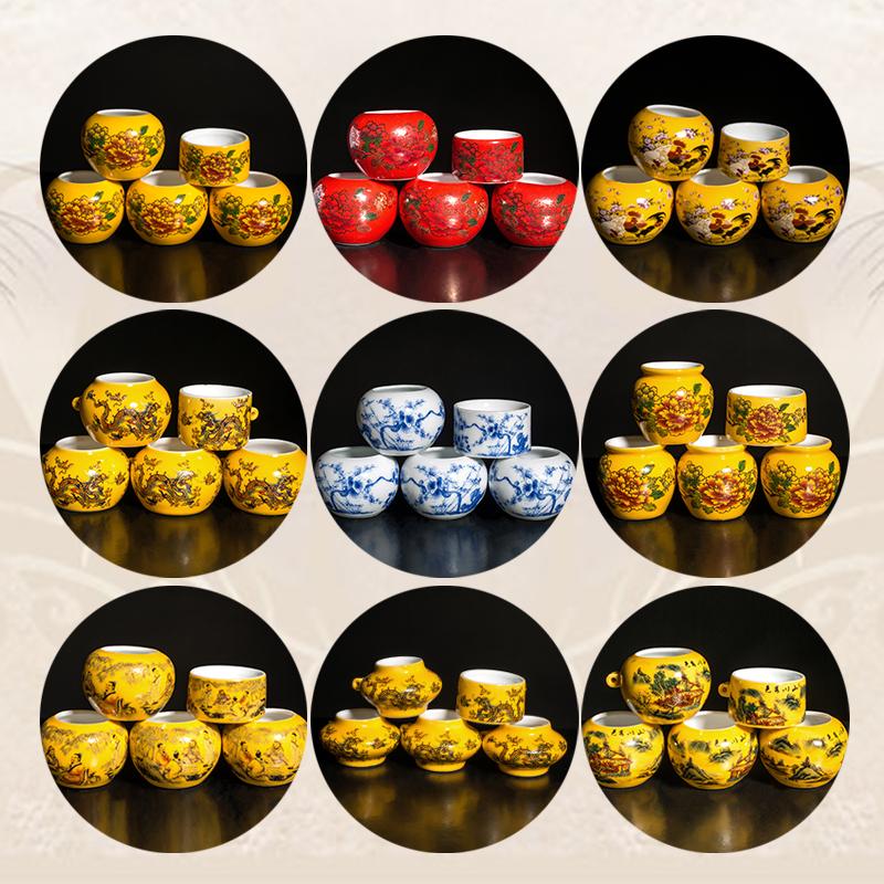 景德镇 鸟食杯 鸟食罐 红子贝子绣眼鸟食碗 64条鸟笼鸟具配件包邮