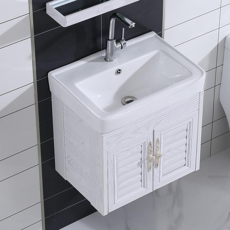 太空铝卫生间洗手盆陶瓷卫浴浴室柜组合挂墙式洗漱池洗脸面盘阳台