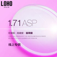 LOHO Standard Resin Lens 1.71 Thin Aspheric Single-Light Lens Can be Matched with Two Existing Lens of Myopia Eyeglasses