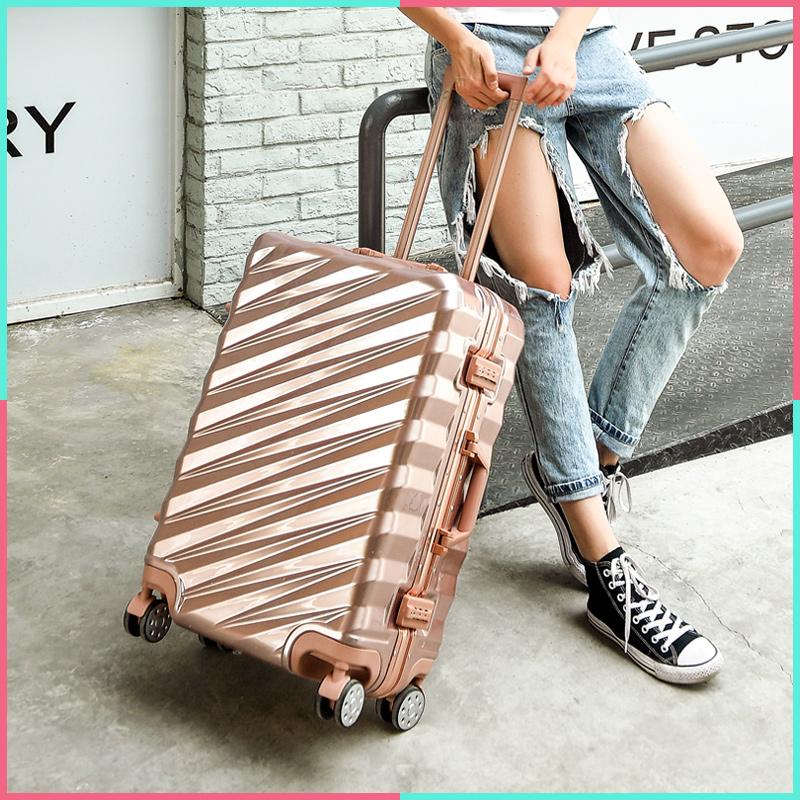 铝框行李箱万向轮学生拉杆箱旅行箱女男密码箱包[天猫商城]