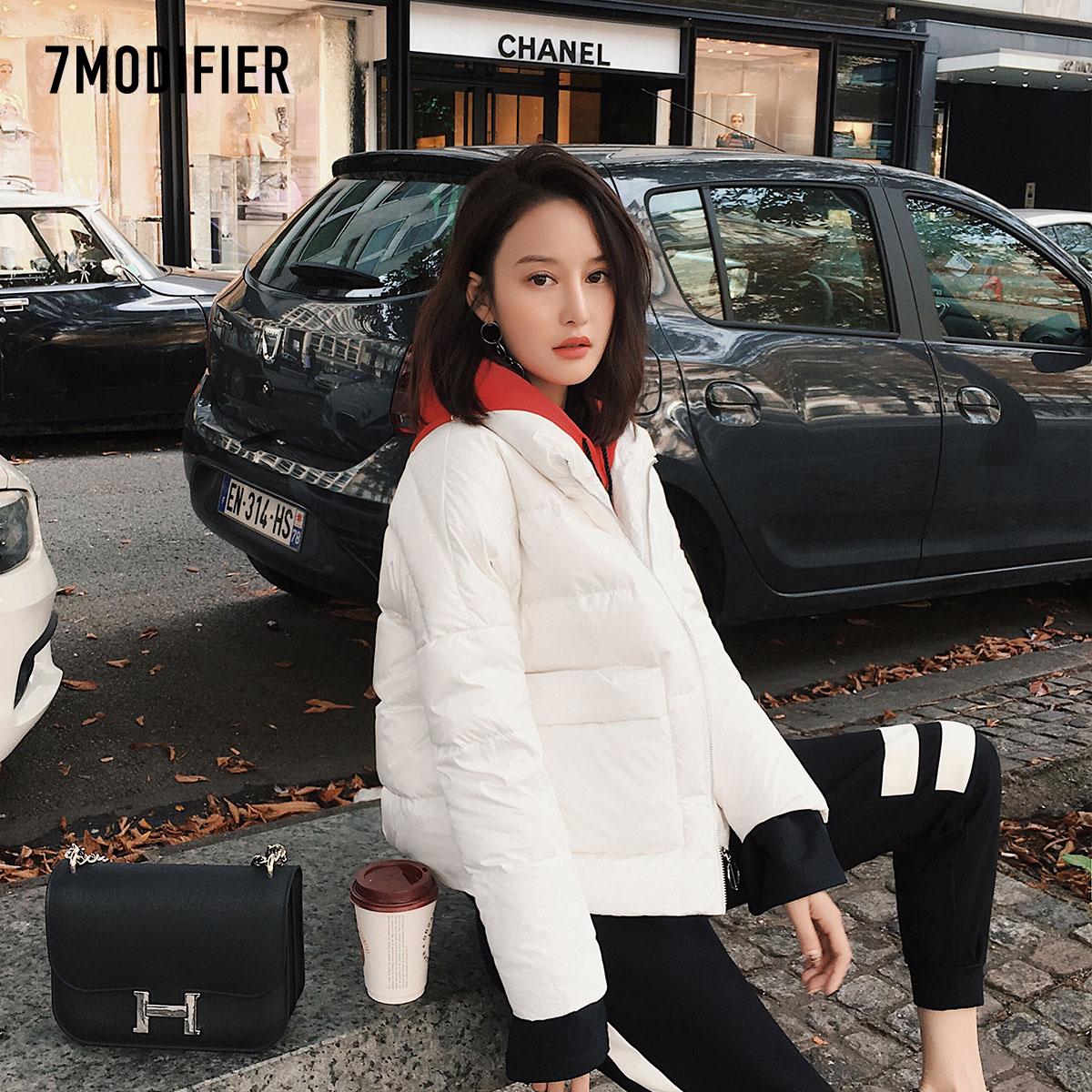 面包棉服外套拉夏贝尔7m2017冬装新款韩版潮宽松短款轻薄羽绒服女