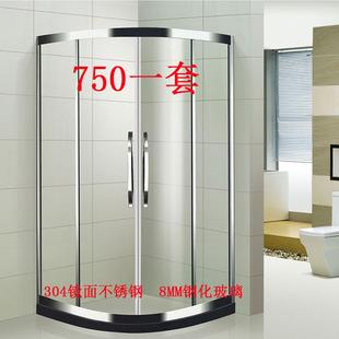 定制淋浴房整体浴室玻璃隔断沐浴房弧扇形简易淋浴房卫生间洗澡间图片
