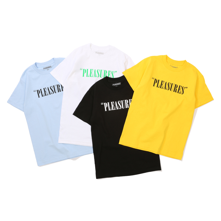 现货 潮玩艺 PLEASURES 19SS BALANCE LOGO印花基础款字母短袖T恤