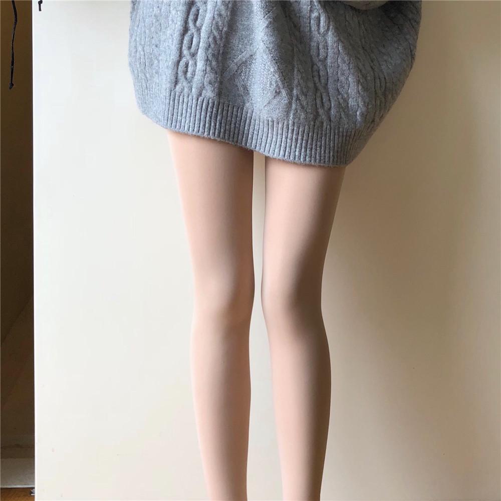 [WALKINDARK]连脚光腿神器秋冬季加绒肉色打底裤加厚假透肉连裤袜