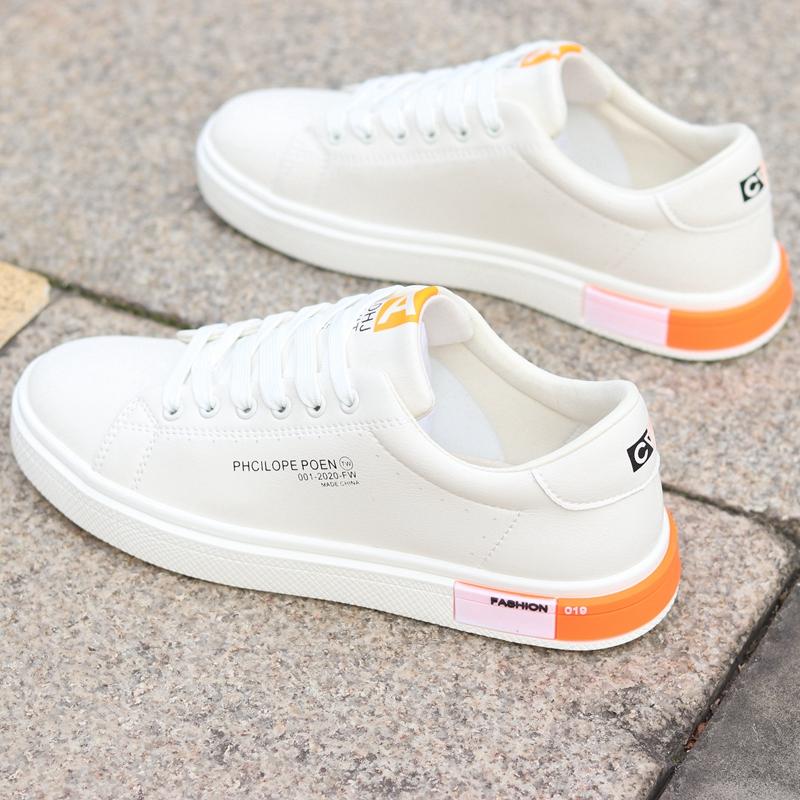 春夏新款男鞋防水小白鞋男士运动休闲鞋韩版百搭白色板鞋子男潮鞋