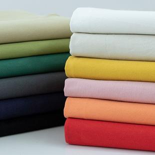 加厚纯棉斜纹纱卡布料 风衣裤子服装纯色水洗棉全棉面料清仓处理图片