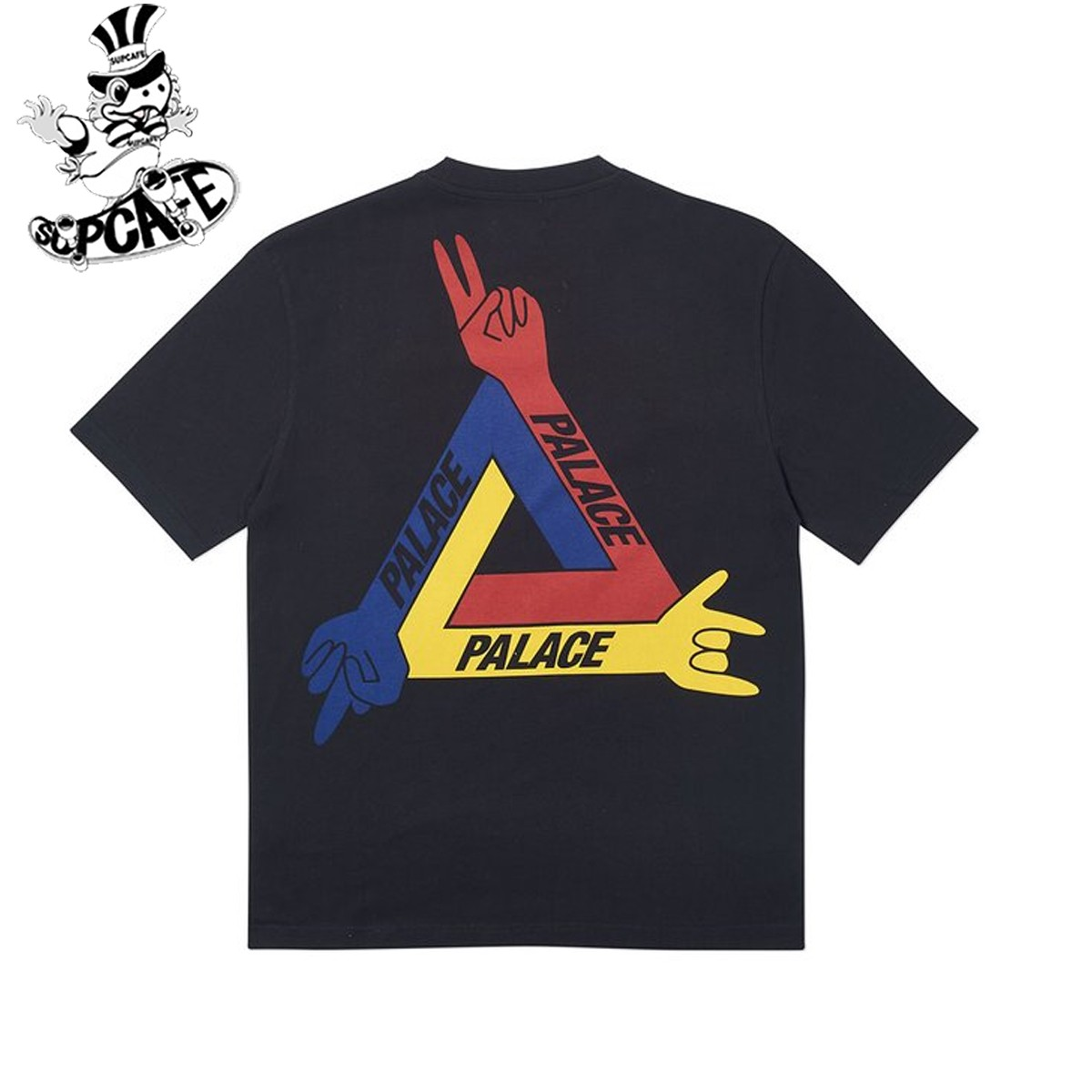 PALACE 現貨 19SS JCDC T-shirt 三角 手指 撲克 藝術家聯名 短袖