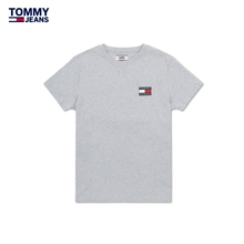 Tommy jeans men's 2020 spring all cotton solid short sleeve knitting T-shirt dm0dm06595