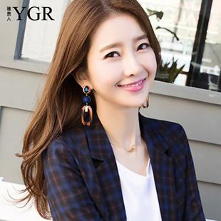 耳环女气质韩国个性潮人网红同款长款耳坠适合圆脸欧美夸张显脸瘦