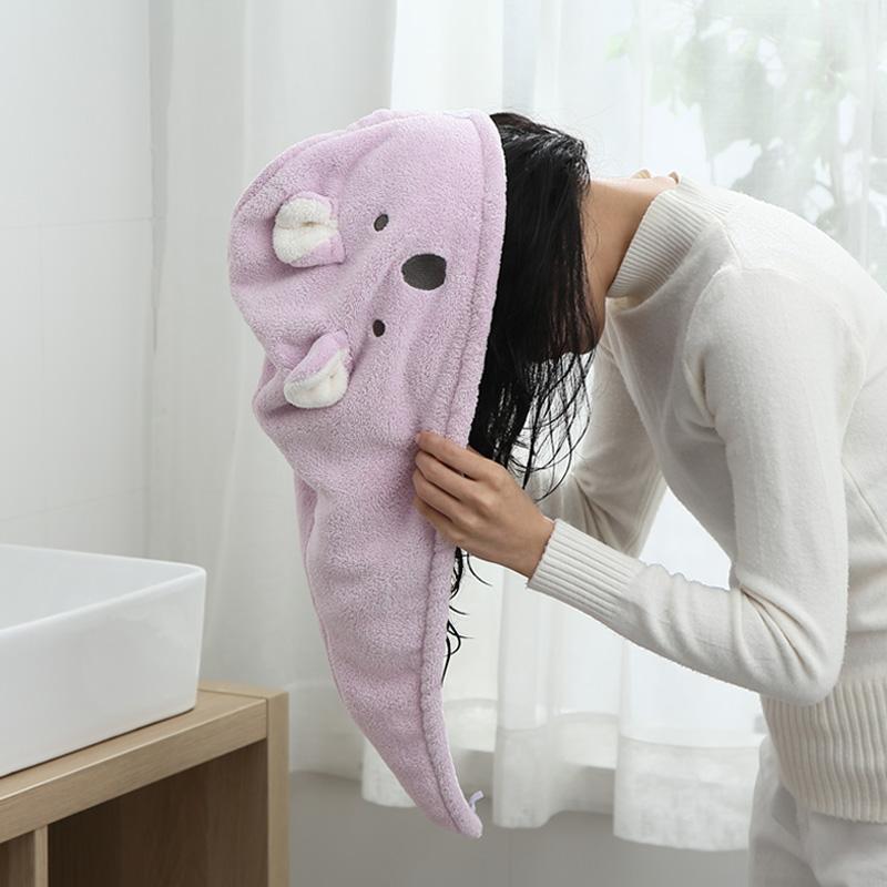干发帽女超强吸水速干毛巾擦头发包头巾加厚可爱韩国洗头帽子浴帽