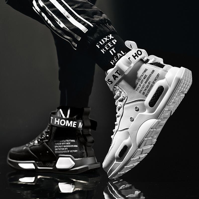 aj男鞋空军一号怒吼天尊鸳鸯潮鞋2019新款鞋子高帮运动鞋夏季板鞋