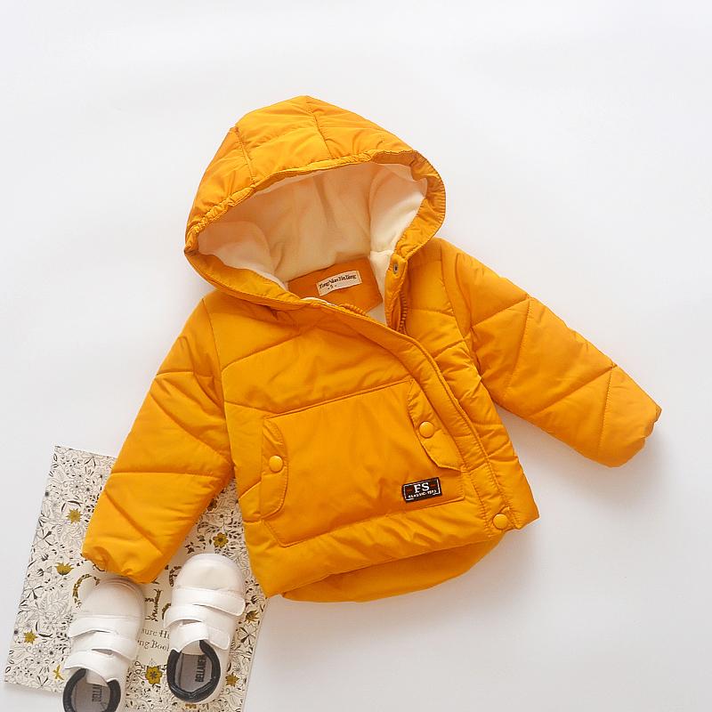 2017新款韩版男童冬装婴儿童棉衣女童加绒外套冬季0-4岁宝宝棉袄