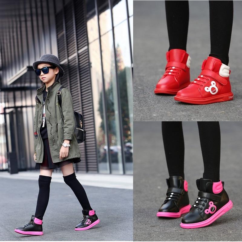 女童鞋秋冬女童靴子加绒保暖短靴公主女童马丁靴中大童棉鞋