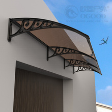 简易雨搭阳光板窗aa5雨棚家用qi明阳光板空调罩门头阳台防雨