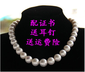Genuine fake one lose ten natural freshwater pearl necklace 10-11mm extremely strong light to send mother to mother-in-law gift