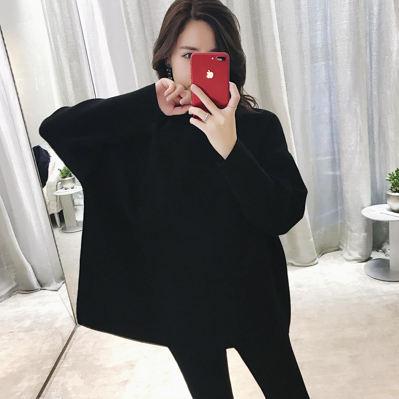 ZOWZOW呛口小辣椒2017冬季新品连帽廓形针织套衫 Z17251
