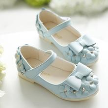 女童皮鞋 公主鞋2021新款韩款表ji14鞋1岁qi宝鞋4(小)花朵童鞋