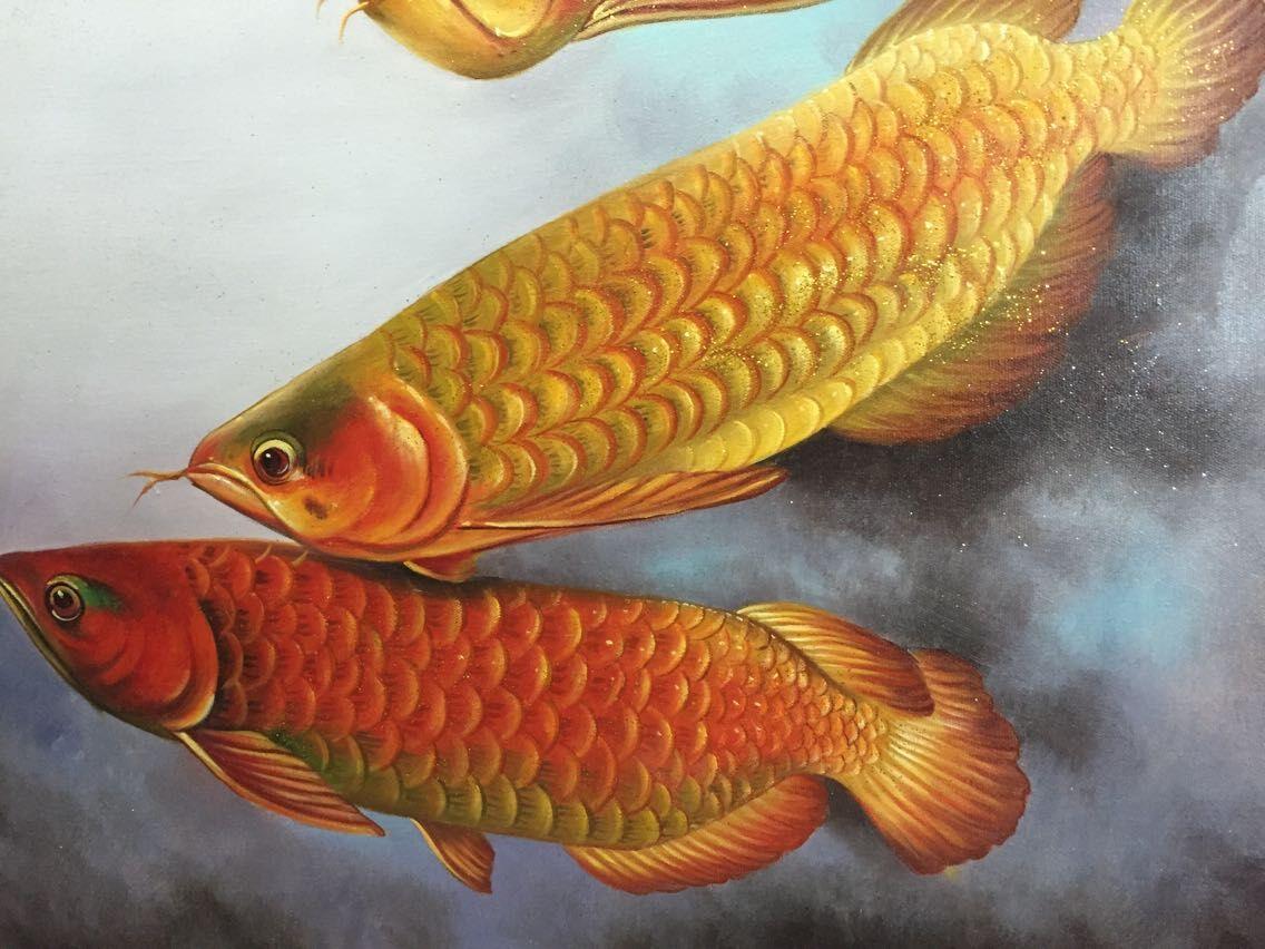 刘燕《金龙鱼》布面油画图片