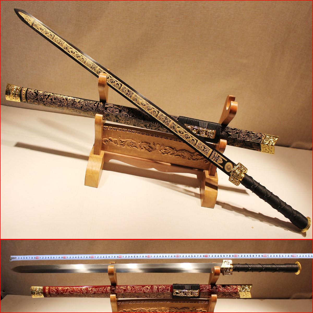 龙泉余氏长款汉剑镇宅宝剑古剑唐剑刀剑锰钢刀具防身冷兵器未开刃