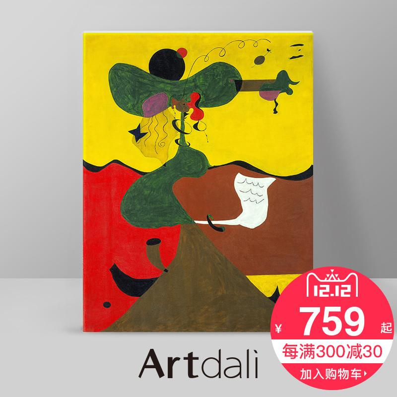 超现实 主义 抽象 油画 古典 客厅 书房 装饰画 米罗 米尔斯 肖像