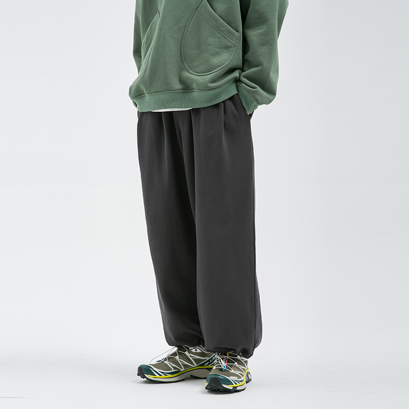 BUTTBILL 20SS复古直筒宽松阔腿休闲裤3M反光印花运动可收口长裤