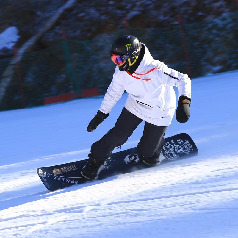 John snow男女中长款软壳滑雪服单板滑雪卫衣套头帽衫防水10000