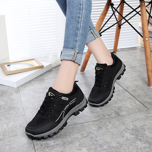 Autumn and winter casual women's single shoes casual hiking shoes lightweight waterproof running shoes non-slip outdoor hiking sports shoes