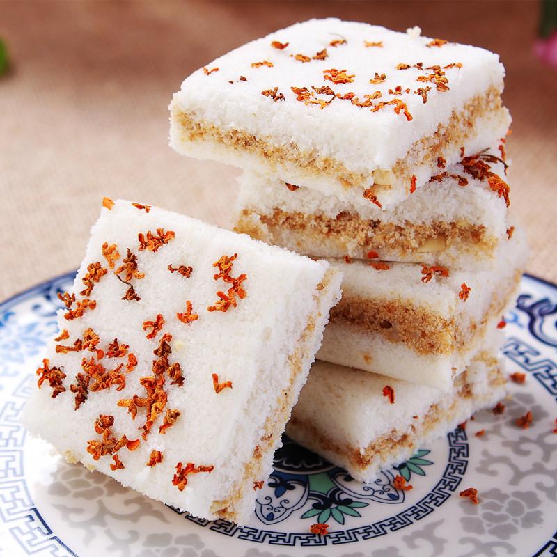 宁波特产 传统手工现做糕点 桂花糕 夹心糕 米糕 糯米糕 零食小吃-天天好超值