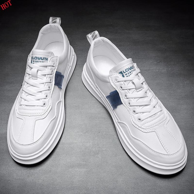 小白鞋男韩版百搭潮流休闲鞋子潮鞋2020年新款潮韩版时尚纯皮板鞋