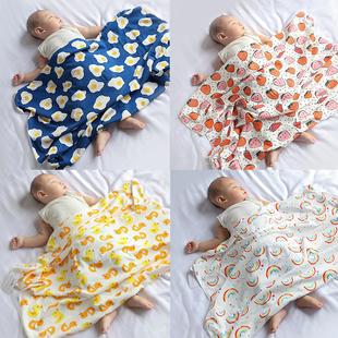 包被纯棉秋冬薄款毛毯初生宝宝盖毯抱被新生婴儿包单产房包巾裹布