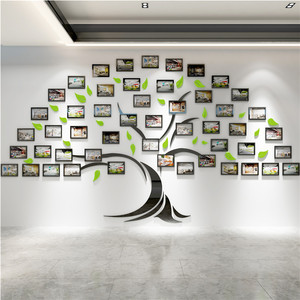 Acrylic 3D Wall Stickers Inspirational Corporate Staff Style Culture Wall Frame Photo Wall Office Decoration