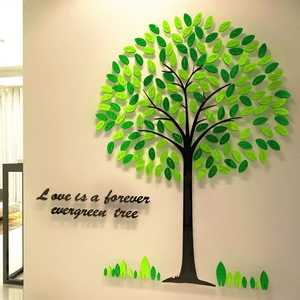 Home tree 3d acrylic stereo wall stickers living room TV entrance background creative office decorations stickers