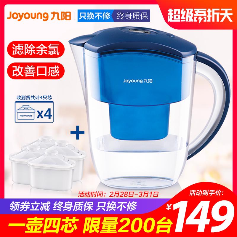 九阳净水壶过滤器厨房自来水家用净水器直饮过滤水壶净水杯滤芯