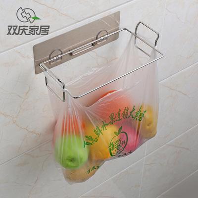 厨房垃圾袋收纳架厕所桶可挂式垃圾袋架塑料袋支架橱柜门挂钩挂架 拍下18元包邮