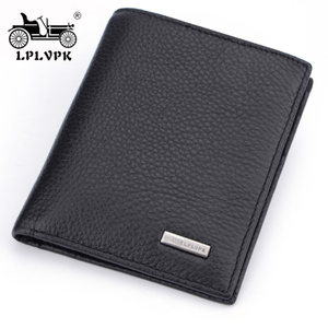 French classic car wallet men's leather short section young men's wallet the first layer of leather wallet vertical card holder men's bag