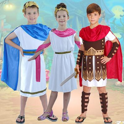 六一儿童节服装 男童古罗马服装战士勇士服装古希腊公主王子衣服图片