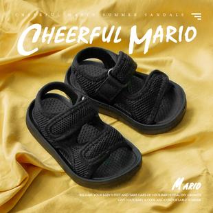 儿童凉鞋男夏男童女童中大童2020新款男孩软底防滑小童宝宝沙滩鞋图片