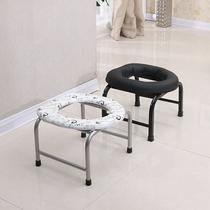折叠防滑孕妇老人坐便椅老年厕所坐便凳简易坐厕椅坐便器大便马桶