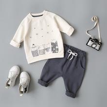 乐努比(小)童装婴儿春秋两件套装0mb121-3to宝宝秋装洋气衣服2