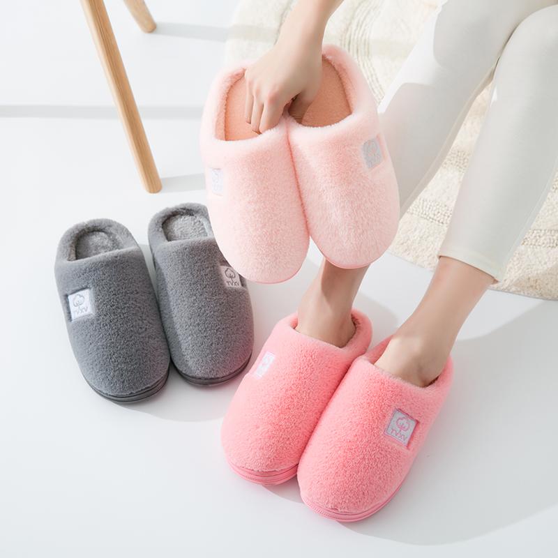 棉拖鞋女厚底冬季韩版可爱室内家居防滑月子毛毛包跟情侣棉拖鞋男